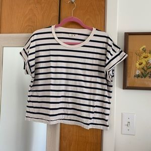 Madewell striped boxy cropped tee